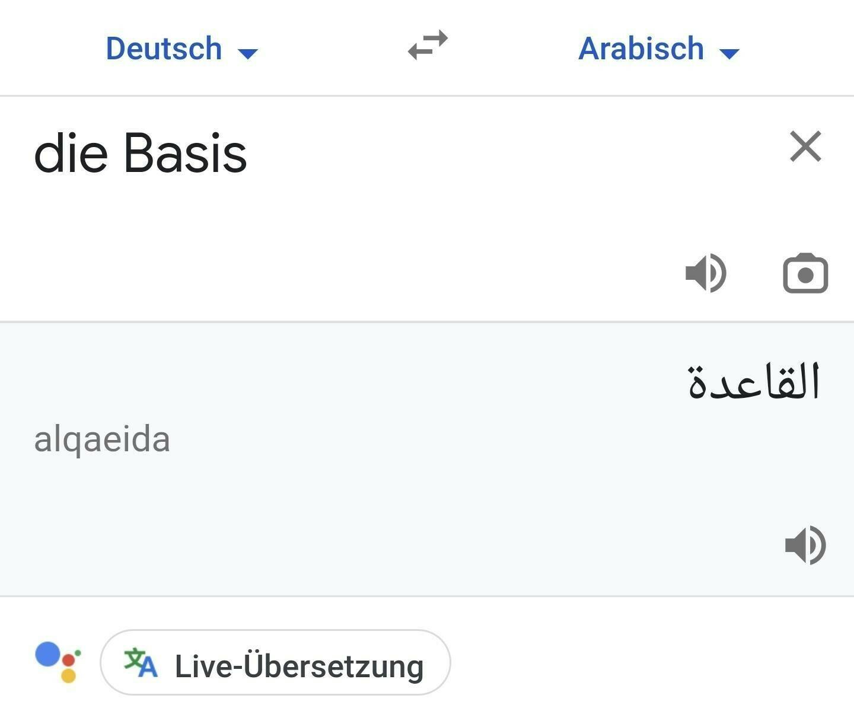 Die Basis heißt übersetzt alqaeida auf arabisch.