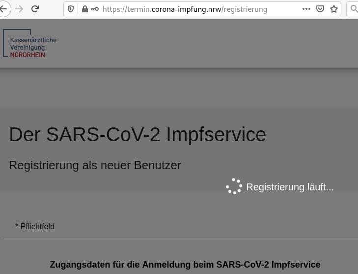 Impfservice NRW: Registrierung stockt